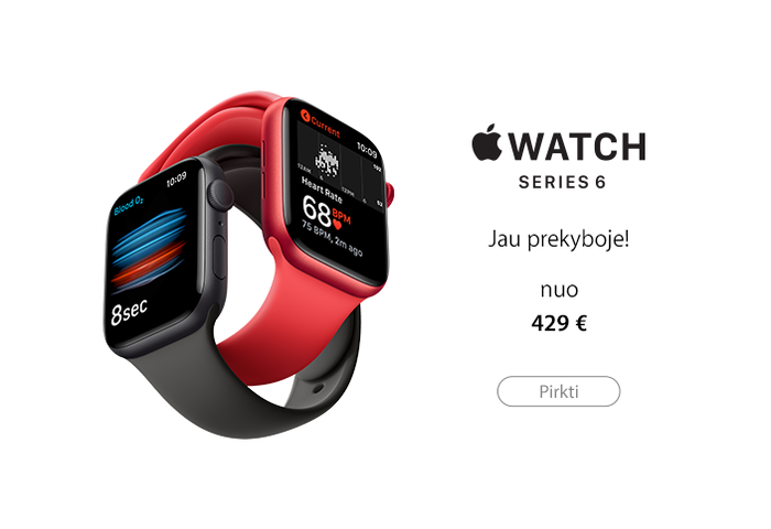 Apple Watch Series 6 -  jau prekyboje