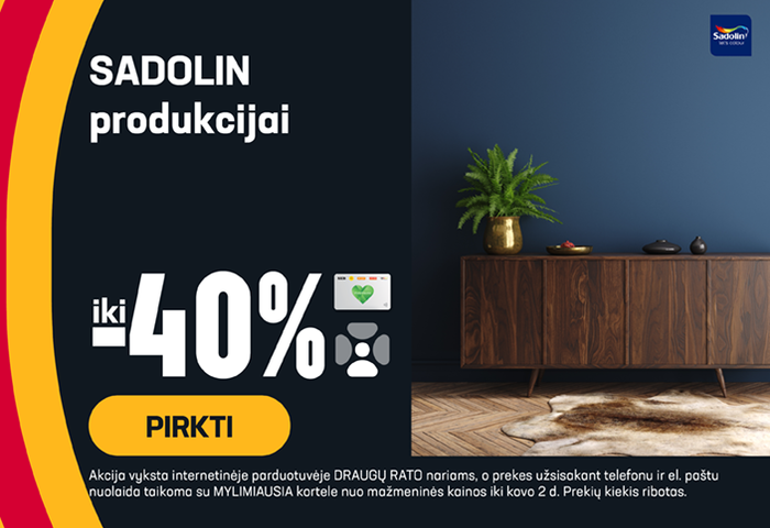 SADOLIN produkcijai iki -40 %