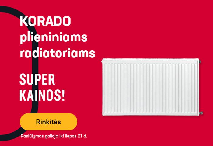 KORADO plieniniai radiatoriai SUPER KAINOMIS
