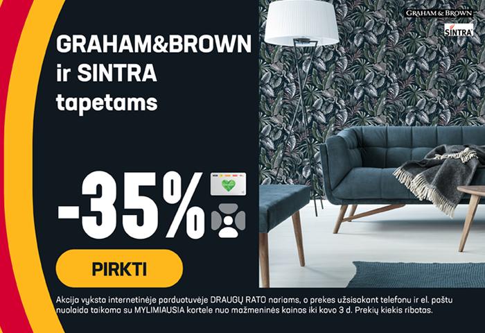 GRAHAM&BROWN ir SINTRA tapetams -35 %