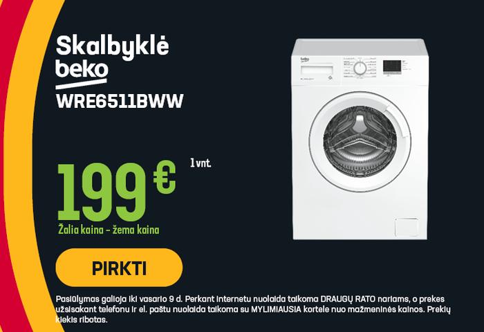 Skalbyklė Beko WRE6511BWW