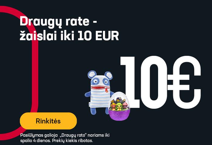 """""""Draugų rate"""" - žaislai iki 10 EUR"""