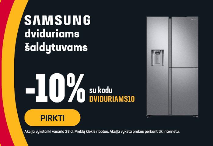 Samsung RS8000 serijos šaldytuvams -10% su kodu