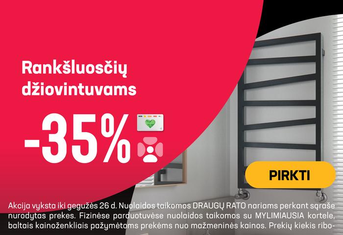 Rankšluosčių džiovintuvams -35 %