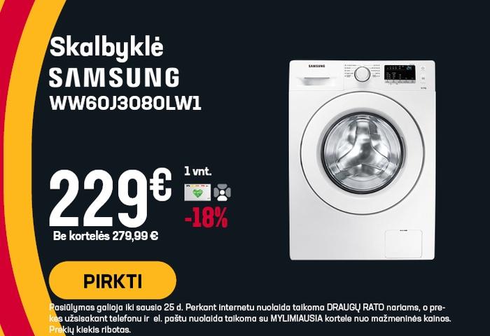 Skalbyklė Samsung WW60J3080LW1/LESMG