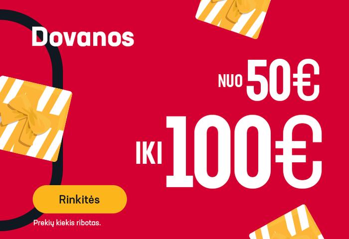 Dovanos nuo 50 iki 100 EUR