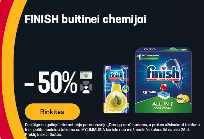 FINISH buitinei chemijai -50%