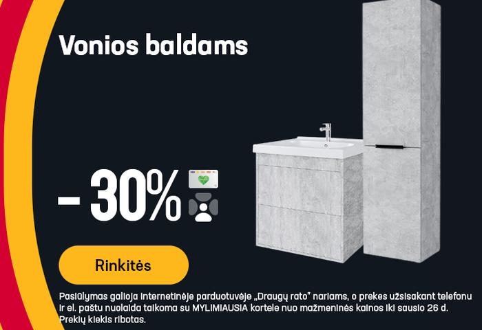 Vonios baldams -30%