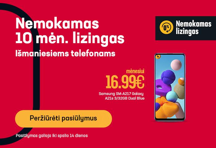 Nemokamas 10 mėn. lizingas išmaniesiems telefonams