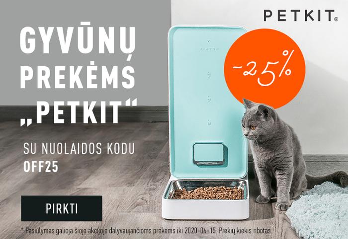 Gyvūnų prekėms Petkit -25 % su nuolaidos kodu: OFF25