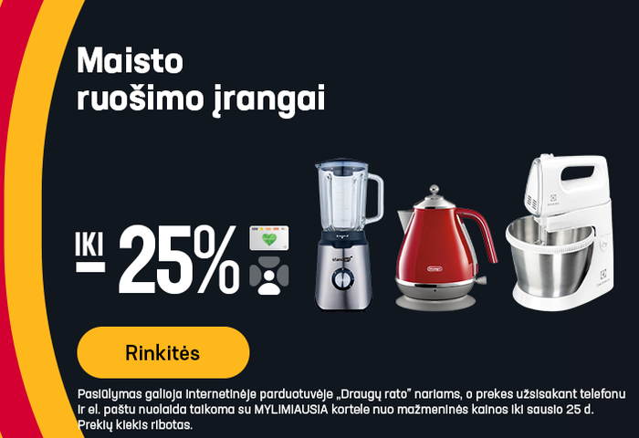 Maisto ruošimo įrangai iki -25%