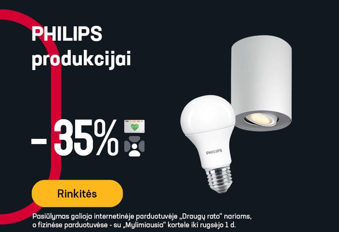 PHILIPS produkcijai -35 %