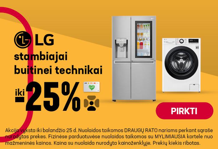 LG stambiajai buitinei technikai iki -25 %