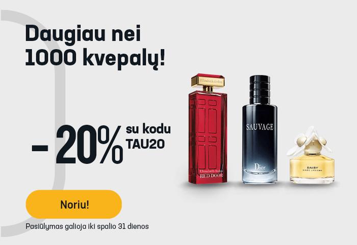 -20 % daugiau nei 1000 kvepalų!