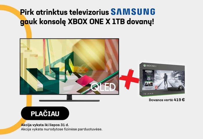 Pirk atrinktus SAMSUNG televizorius, gauk konsolę XBOX ONE X 1TB dovanų!
