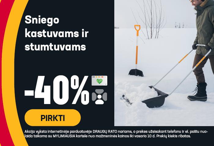 Sniego kastuvams ir stumtuvams -40 %