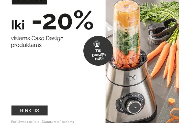 """Tik  """"Draugų ratui"""" iki -20 % visiems Caso Design produktams"""