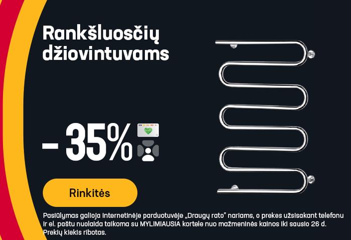 Rankšluosčių džiovintuvams -35%