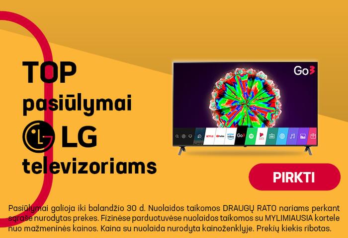 TOP pasiūlymai LG televizoriams