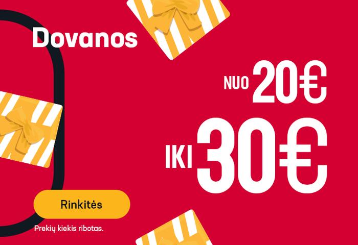 Dovanos nuo 20 iki 30 EUR