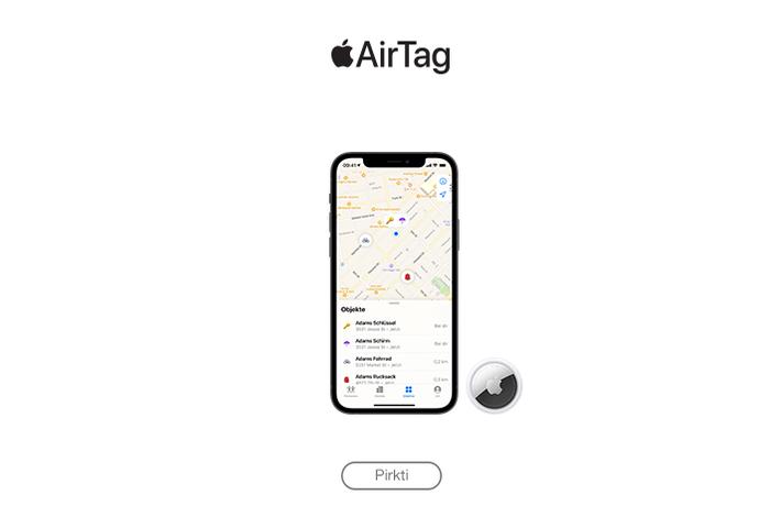 Apple Air Tag užsakyti
