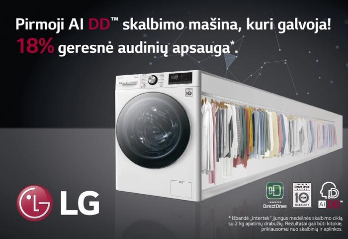 Pirmoji AI DD skalbimo mašina, kuri galvoja! 18% geresnė audinių apsauga