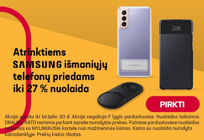 Atrinktiems SAMSUNG išmaniųjų telefonų priedams iki -27% nuolaida