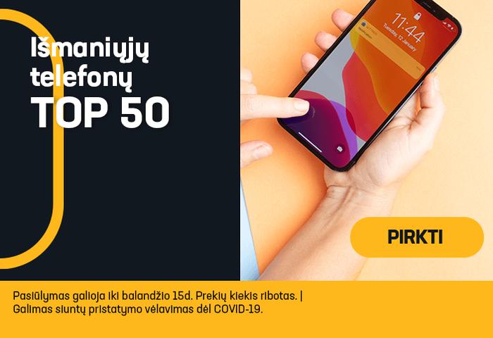 Išmaniųjų telefonų TOP 50