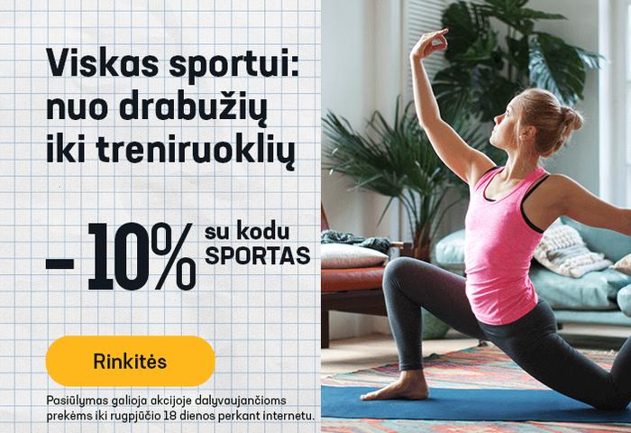 Viskas sportui: nuo drabužių iki treniruoklių -10 % su kodu: SPORTAS