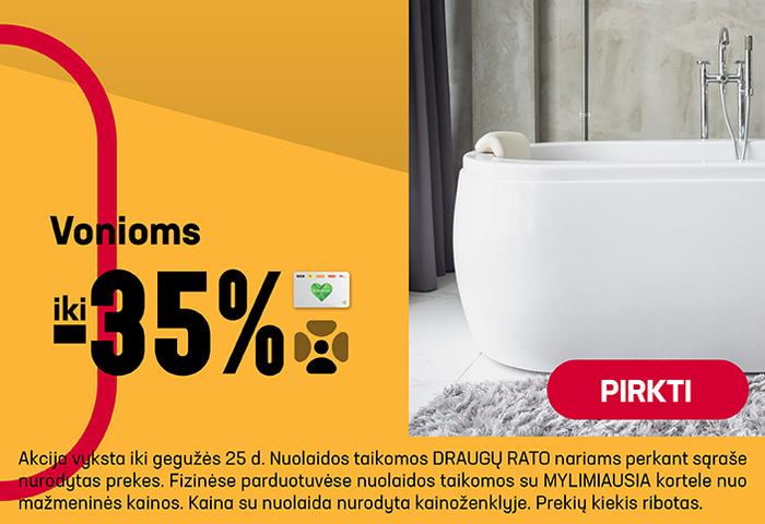 Vonioms iki –35%
