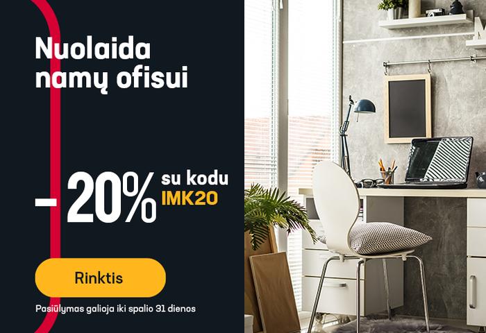 20 % nuolaida namų ofisui