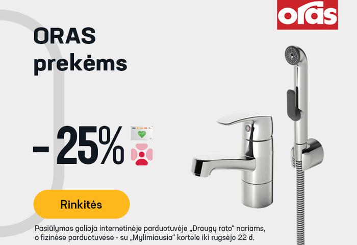 ORAS prekėms -25 %