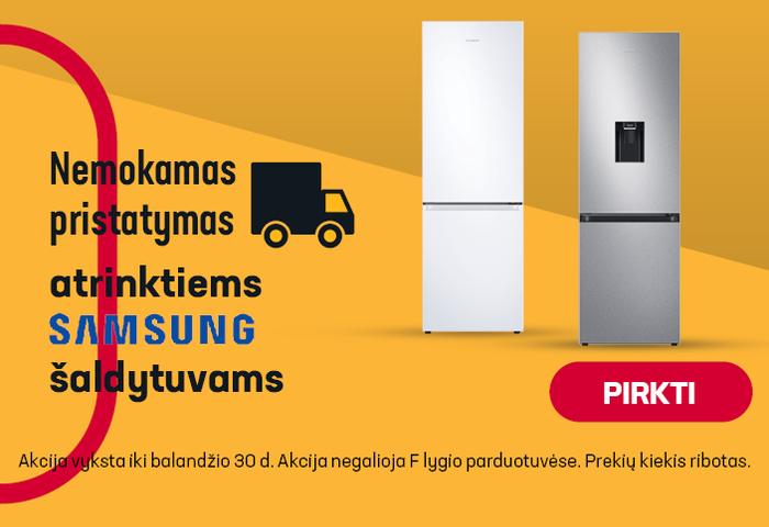 Nemokamas pristatymas atrinktiems SAMSUNG šaldytuvams