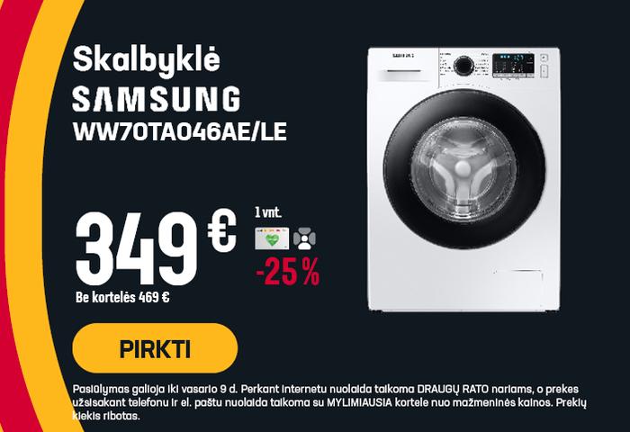 Skalbyklė Samsung WW70TA046AE/LE
