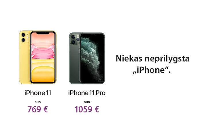 Niekas neprilygsta iPhone