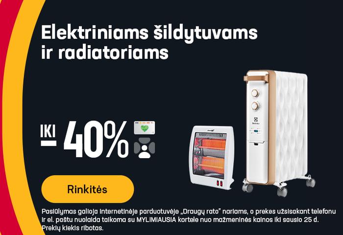 Elektriniams šildytuvams ir radiatoriams iki -40%