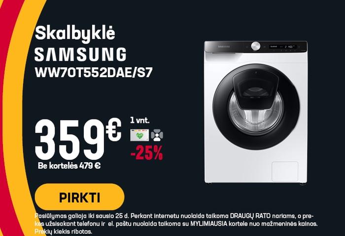 Skalbyklė Samsung WW70T552DAE/S7