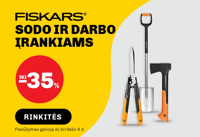 FISKARS sodo ir darbo įrankiams iki -35 %