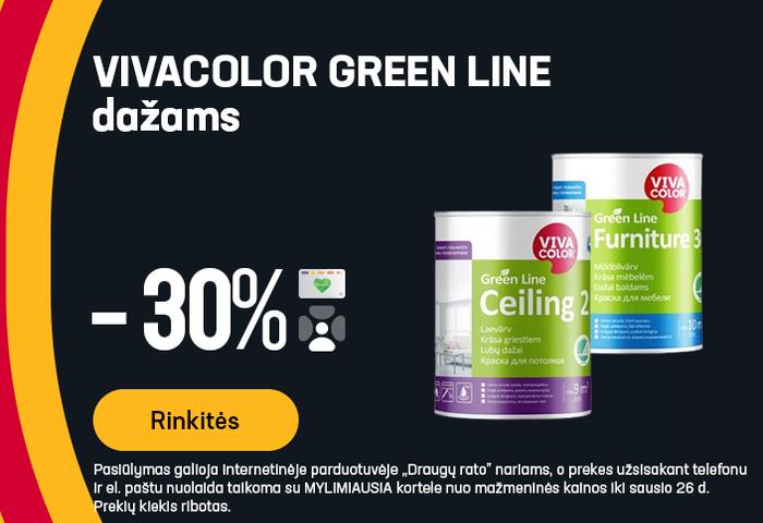 VIVACOLOR GREEN LINE dažams -30%