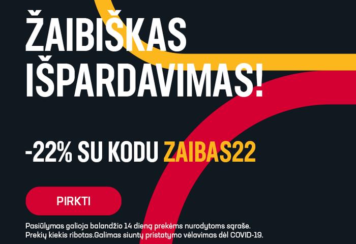 Žaibiškas išpardavimas! -22% su kodu