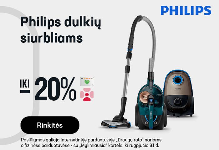 Philips dulkių siurbliams iki -20 %