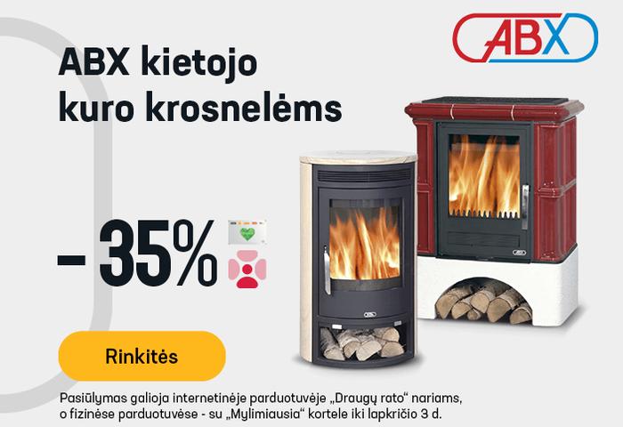 ABX kietojo kuro krosnelėms -35 %
