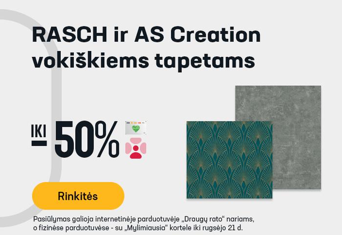 RASCH ir AS Creation vokiškiems tapetams iki -50 %