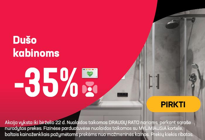 Dušo kabinoms -35 %