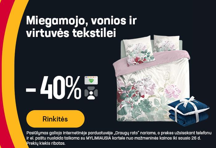 Miegamojo, vonios ir virtuvės tekstilei -40%