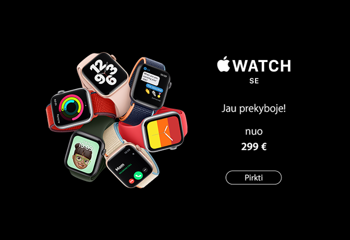 Apple Watch Series SE -  jau prekyboje!
