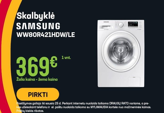 Skalbyklė Samsung WW80R421HDW/LE