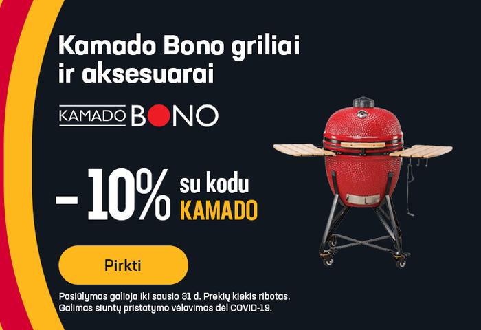 Kamado Bono griliai ir aksesuarai -10% kuponas