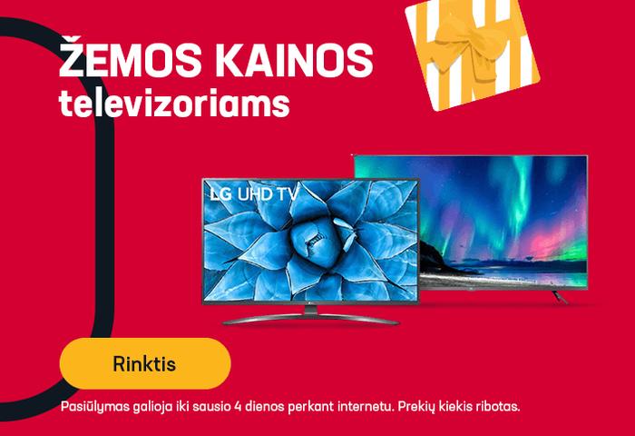 Televizoriams - žemos kainos
